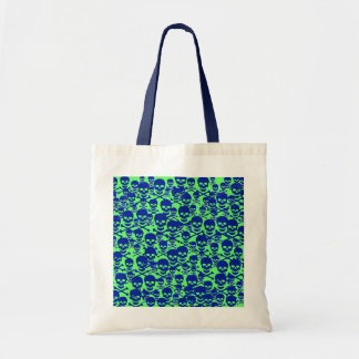 Blue Skulls Budget Tote Bag