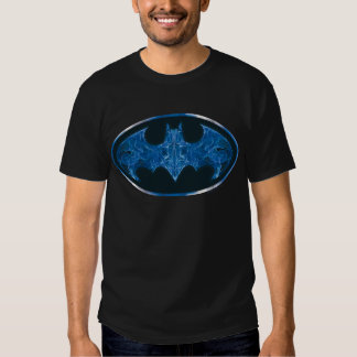 Blue Smoke Bat Symbol Tee Shirts