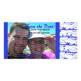 Blue Spring Blossoms Save The Date Photo Cards