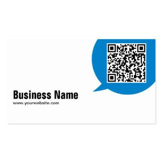 Blue Talk Bubble Architect Business Card