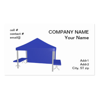 Blue trade show tent pack of standard business cards
