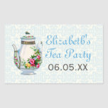 Blue Vintage French Tea Party Favour Stickers