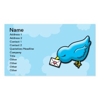 Bluebird keep in touch business card