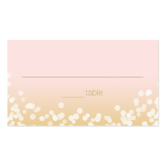 Blush Pink and Gold Twinkle Lights Seating Pack Of Standard Business Cards