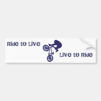 BMX Biker Ride to Live Live to Ride Bumper Sticker