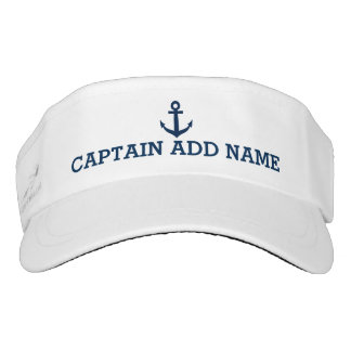 Boat captain hats | nautical anchor sun visor cap