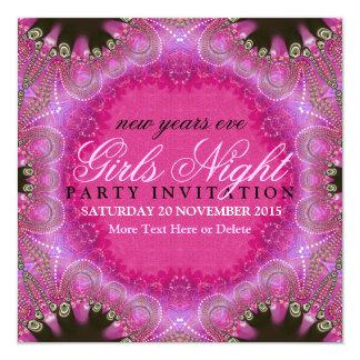 Bohemian Pink Girls Night NYE Party Invitations