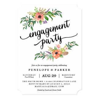 Boho Engagement Party Invitation