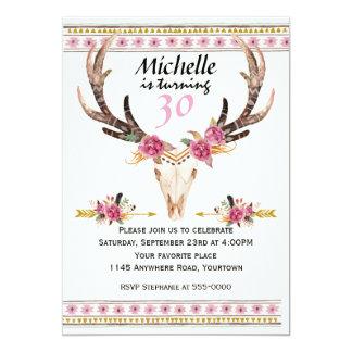 Boho Women's Southwestern Birthday 13 Cm X 18 Cm Invitation Card