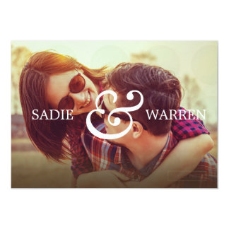 Bold Ampersand Save the Date Card 13 Cm X 18 Cm Invitation Card