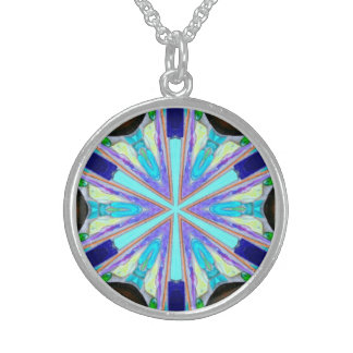 bold and blue six-sided star necklace