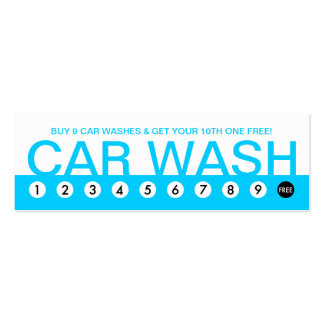 bold CAR WASH customer loyalty Pack Of Skinny Business Cards