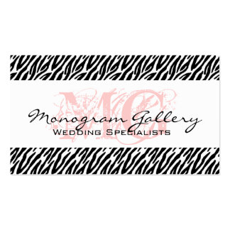 Bold Pink, Black Zebra Stripes Business Card