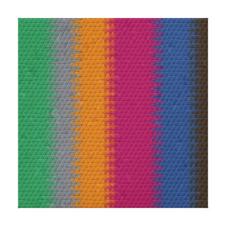 Bold Striped Mosaic Stretched Canvas Prints