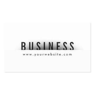 Bold Title Minimalism Architect Business Card