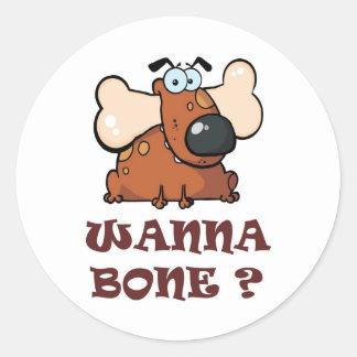 Bone Full Round Sticker
