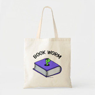 Book Worm Budget Tote Bag