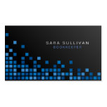Bookkeeper Financial Services Abstract Blue Cubes Pack Of Standard Business Cards