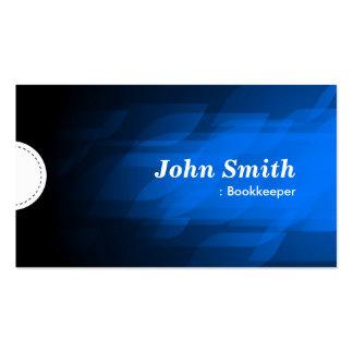 Bookkeeper - Modern Dark Blue Pack Of Standard Business Cards