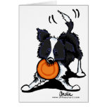 Border Collie at Play Note Card