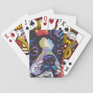 Boston Terrier Bright Colorful Pop Dog Art Deck Of Cards