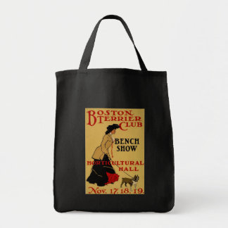 Boston Terrier Club Grocery Tote Bag