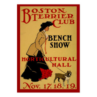 Boston Terrier Club Pack Of Chubby Business Cards