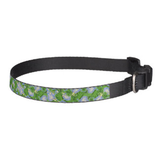 Botanical Morning Glory Flowers Floral Dog Collar