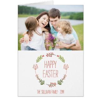Botanical Wreath   Happy Easter Card
