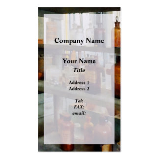 Bottles of Chemicals Tall and Short Pack Of Standard Business Cards
