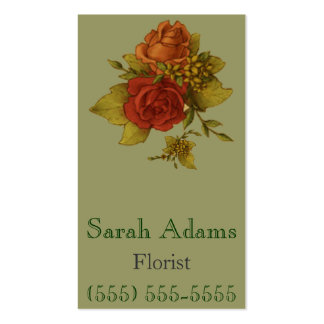 Bouquet of Flowers Pack Of Standard Business Cards