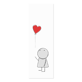 Boy & Balloon Bookmark Pack Of Skinny Business Cards