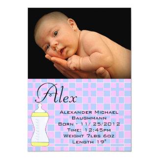 Boy / Girl Baby Blanket Birth Announcement