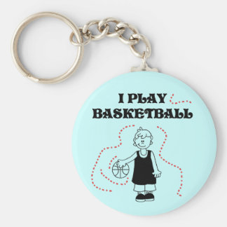 Boy I Play Basketball Tshirts and Gifts Basic Round Button Key Ring