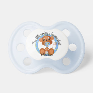 Boy Monkey Bananas About Grandma Baby Pacifier