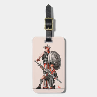 Boy Scout and Liberty Tag For Bags