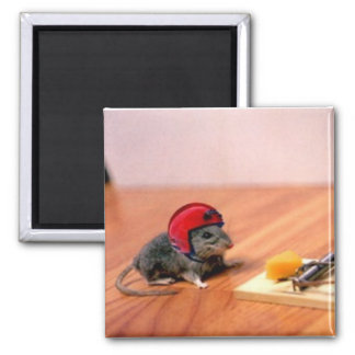 Boy Scout Mouse Square Magnet