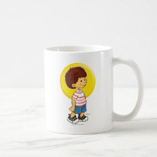 Boy Standing Basic White Mug