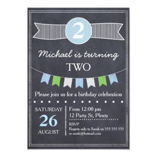 Boys Chalkboard Birthday Invitation