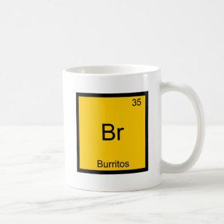 Br - Burritos Chemistry Element Symbol Funny Basic White Mug