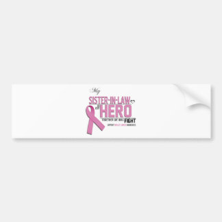 Breast Cancer Awareness: sister in law Bumper Sticker