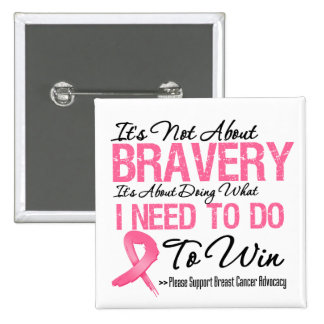 Breast Cancer Battle 15 Cm Square Badge