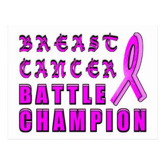 Breast Cancer Battle Champion Postcard
