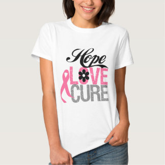 Breast Cancer HOPE LOVE CURE Gifts T Shirt