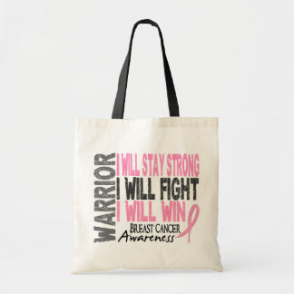 Breast Cancer Warrior Budget Tote Bag