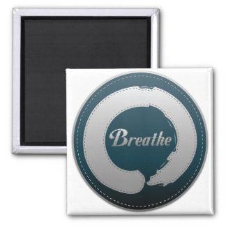 Breathe Enso Stitch Square Magnet