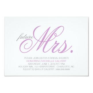 Bridal Shower Invitation   future Mrs.