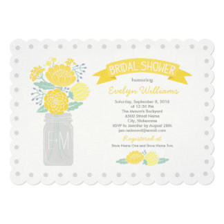 Bridal Shower Invitations | Mason Jar Bouquet