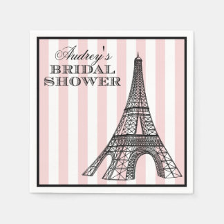 Bridal Shower Napkins | Paris France Theme Paper Napkins