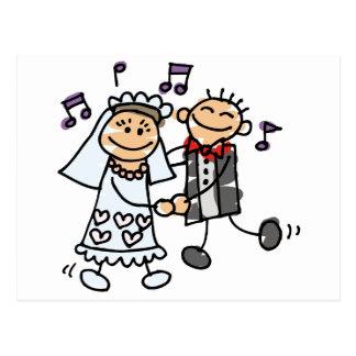 Bride and Groom Celebrate Postcard